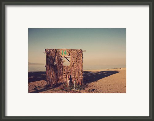 Beach Hut Number Fourteen Framed Print By Laurie Search