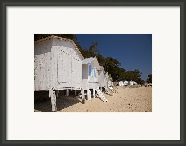 Beach Huts 1 Framed Print By Stephane Grossin