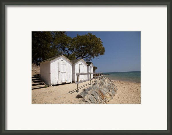 Beach Huts 2 Framed Print By Stephane Grossin