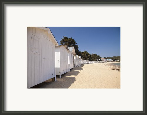 Beach Huts 3 Framed Print By Stephane Grossin