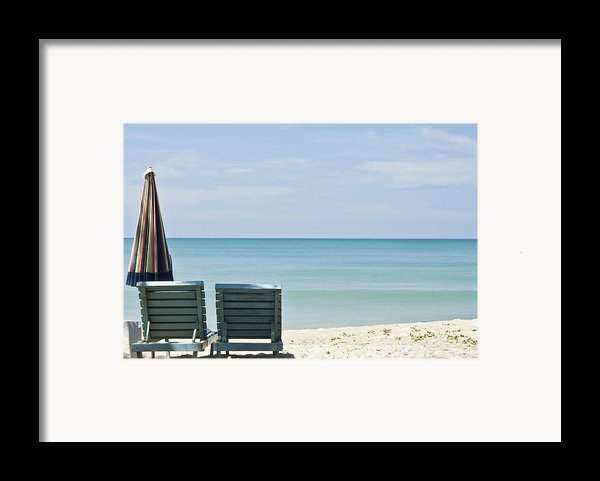Beach Life Framed Print By Nomad Art And  Design