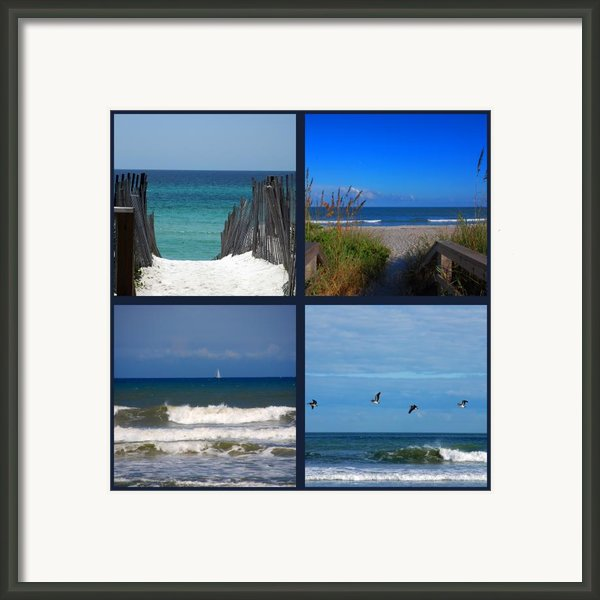 Beach Multiples Framed Print By Susanne Van Hulst