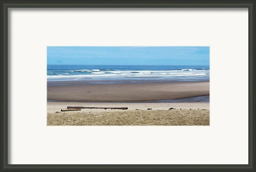 Beach On The Oregon Coast Framed Print By Marion Mccristall