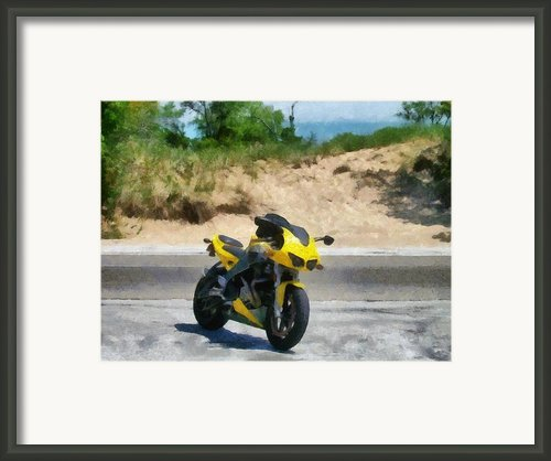 Beach Road Buell Framed Print By Michelle Calkins