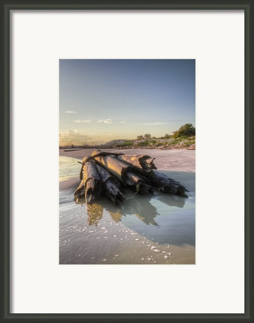 Beach Ruins  Framed Print By Drew Castelhano
