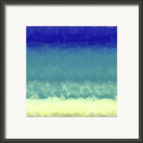 Beach Scene Two. Modern Decor Collection Framed Print By Mark Lawrence