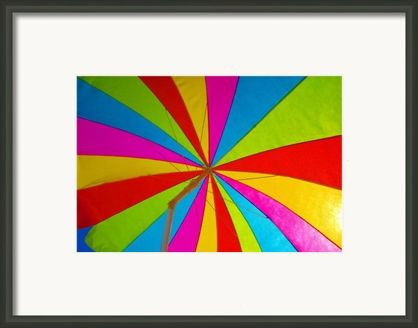 Beach Umbrella Framed Print By David Lee Thompson