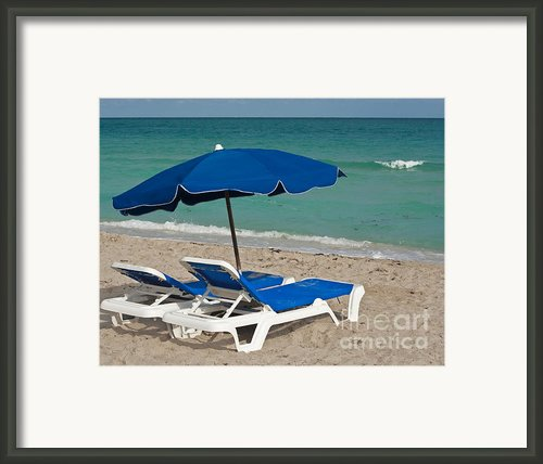 Beachtime Framed Print By Barbara Mcmahon