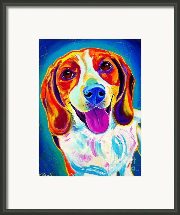 Beagle - Lucy Framed Print By Alicia Vannoy Call
