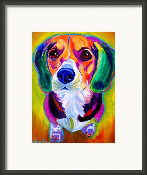 Beagle - Molly Framed Print By Alicia Vannoy Call