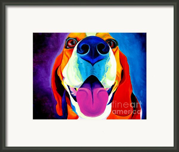 Beagle - Saphira Framed Print By Alicia Vannoy Call