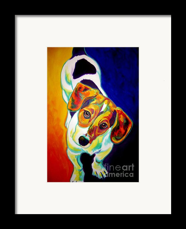 Beagle - Scooter Framed Print By Alicia Vannoy Call