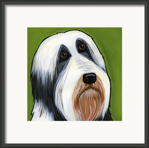 Bearded Collie Framed Print By Leanne Wilkes
