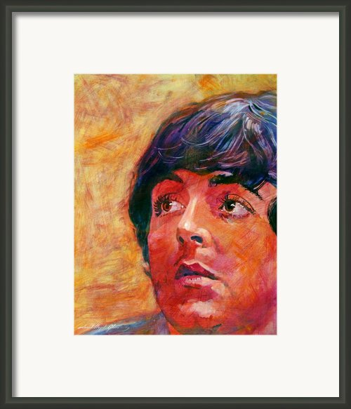 Beatle Paul Framed Print By David Lloyd Glover
