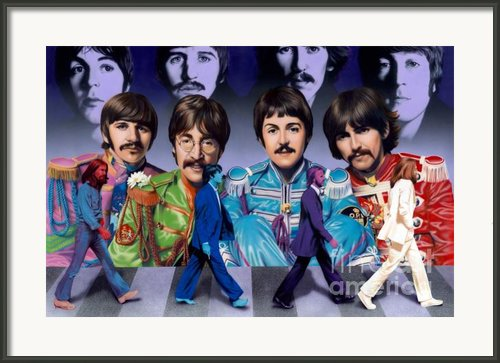 Beatles - Walk Away Framed Print By Ross Edwards