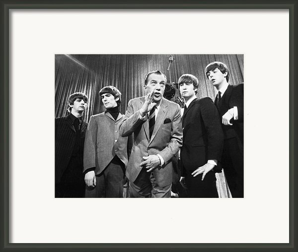 Beatles And Ed Sullivan Framed Print By Granger