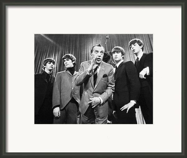 Beatles And Ed Sullivan Framed Print By Granger