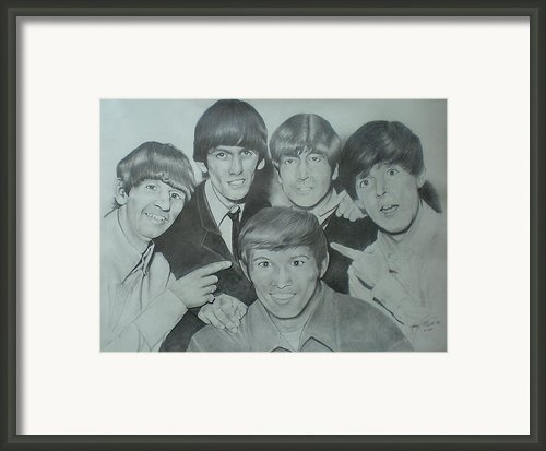 Beatles With A New Friend Framed Print By Randy Mcfall