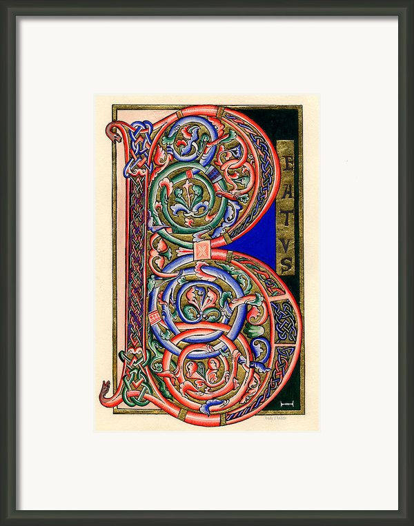 Beatus Framed Print By Judy Dodds