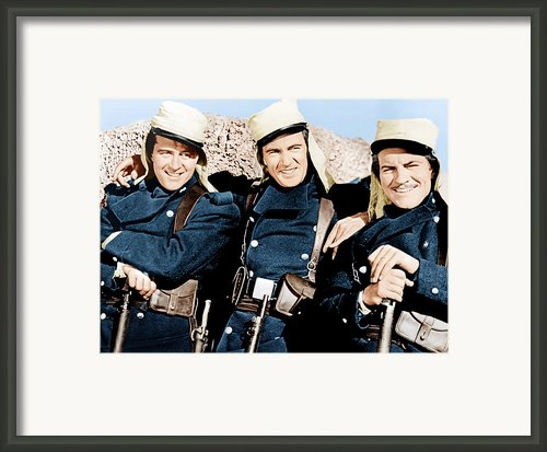 Beau Geste, From Left Ray Milland, Gary Framed Print By Everett