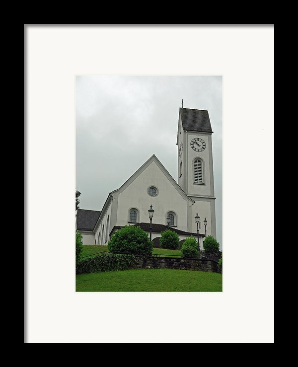Beautiful Church In The Swiss City Of Lucerne Framed Print By Ashish Agarwal