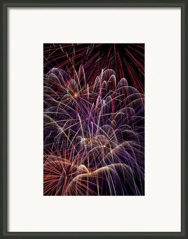 Beautiful Fireworks Framed Print By Garry Gay