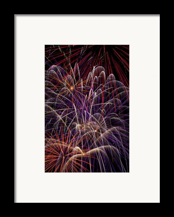 Beautiful Fireworks Framed Print By Garry Gay