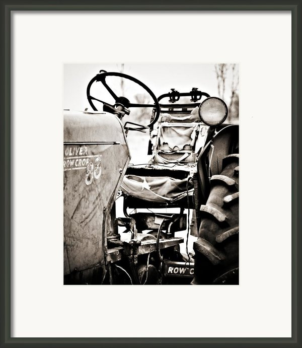 Beautiful Oliver Row Crop Old Tractor Framed Print By Marilyn Hunt