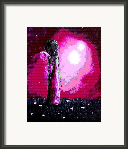 Beautiful Pink Angel Fairy By Shawna Erback Framed Print By Shawna Erback