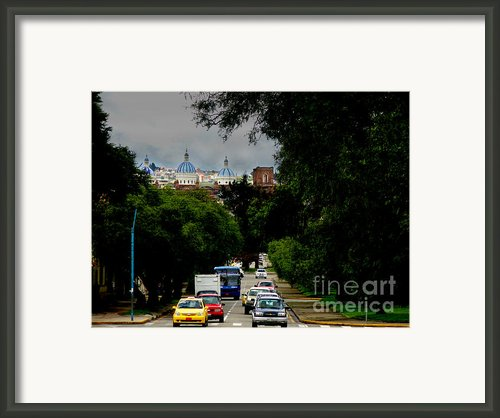 Beauty Of Avenida Solano In Cuenca Framed Print By Al Bourassa