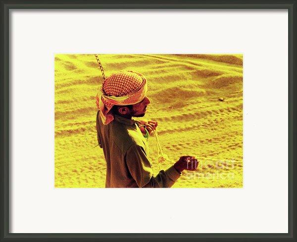 Bedouin Guide Framed Print By Elizabeth Hoskinson