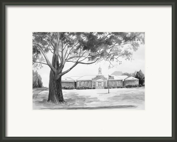 Beechwood School In Marshallville Georgia Framed Print By Edna Garrett