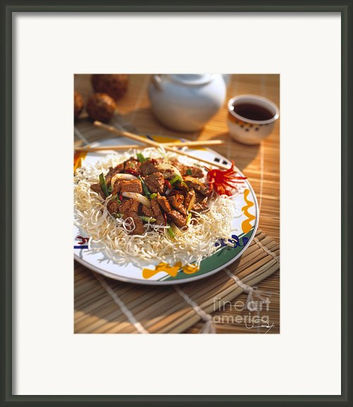 Beef Stir Fry Framed Print By Vance Fox