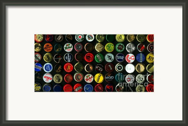 Beer Bottle Caps . 2 To 1 Proportion Framed Print By Wingsdomain Art And Photography