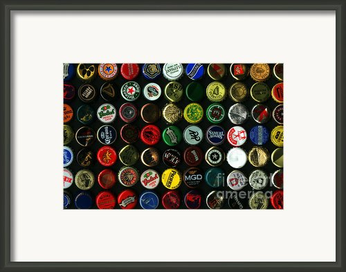 Beer Bottle Caps . 8 To 12 Proportion Framed Print By Wingsdomain Art And Photography