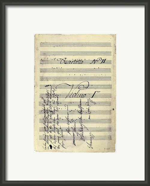 Beethoven Manuscript, 1799 Framed Print By Granger