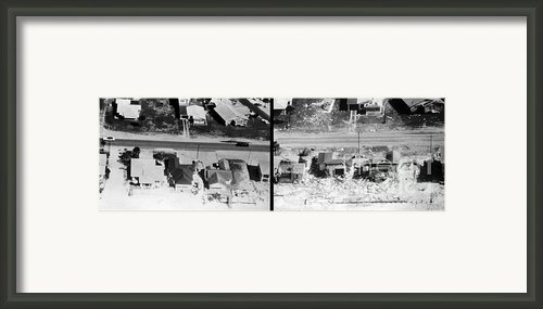Before And After Hurricane Eloise 1975 Framed Print By Science Source