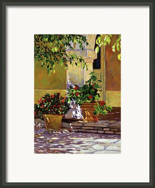 Bel-air Patio Steps Framed Print By David Lloyd Glover