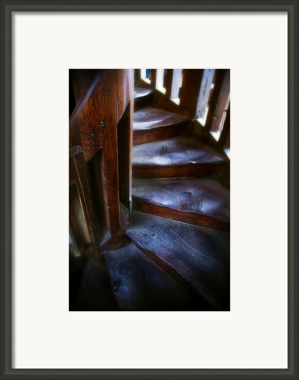 Bell Tower Steps Ii Framed Print By John  Bartosik