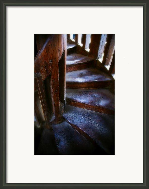 Bell Tower Steps Ii Framed Print By John  Bartosik