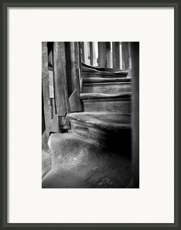 Bell Tower Steps1 Framed Print By John  Bartosik