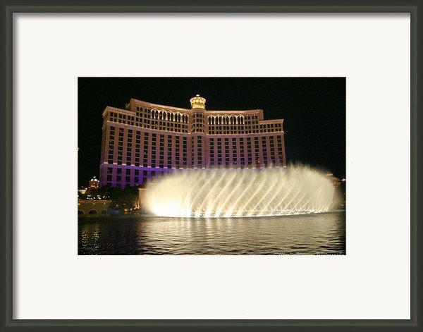 Bellagio Fountains 4 Framed Print By Charles Warren