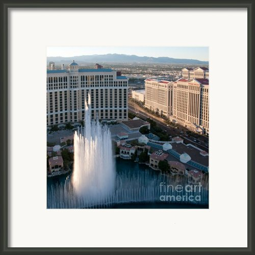 Bellagio Fountains At Dusk Framed Print By Andy Smy