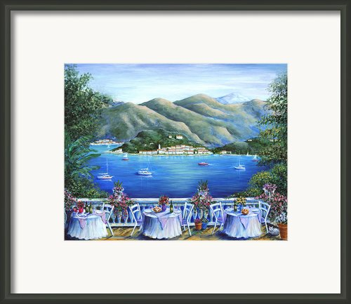 Bellagio From The Cafe Framed Print By Marilyn Dunlap