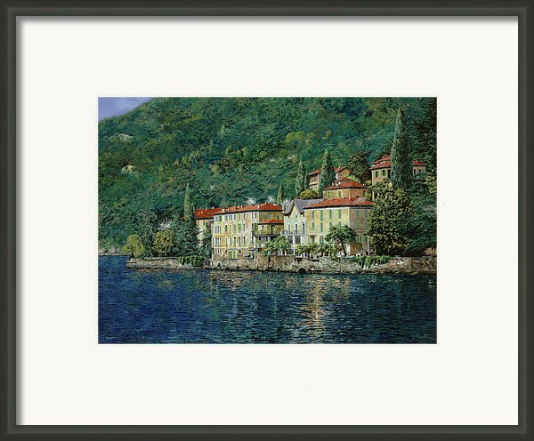 Bellano On Lake Como Framed Print By Guido Borelli