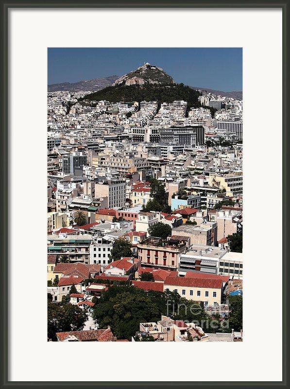 Below Mount Lykavittos Framed Print By John Rizzuto
