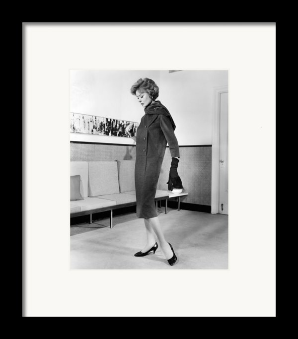 Below-the-knee Trapezoid Dress Framed Print By Everett