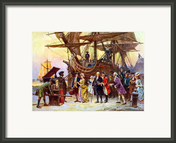 Ben Franklin Returns To Philadelphia Framed Print By War Is Hell Store