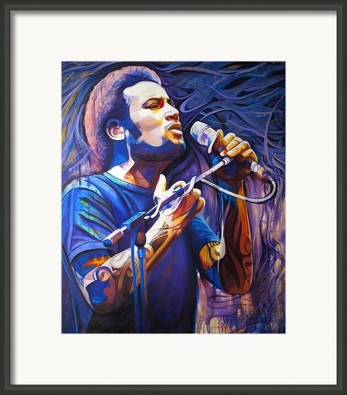 Ben Harper And Mic Framed Print By Joshua Morton
