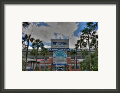 Ben Hill Griffin Stadium Framed Print By Dean Traiger